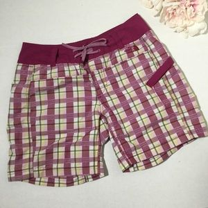 Plaid hiking swimming board shorts size 2